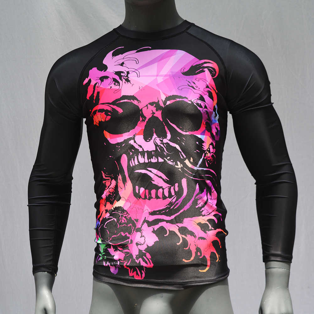 Mmatrunks homens muay thai t camisas de sublimação impressão gi bjj rashguard mma boxe jiu jitsu rash guard wushu sanda camisas