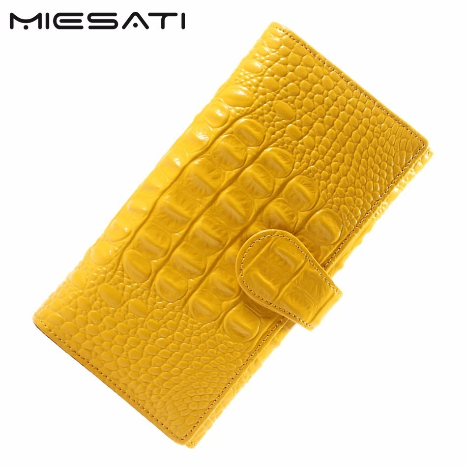MIESATI Vintage Wallet Women Wallets quality Leather Long Fashion Designer Brand Clutch Purse Lady Party Wallet Female Card Hold aim fashion women s long clutch wallet and purse brand designer vintage leather wallets women bags high quality card holder n801