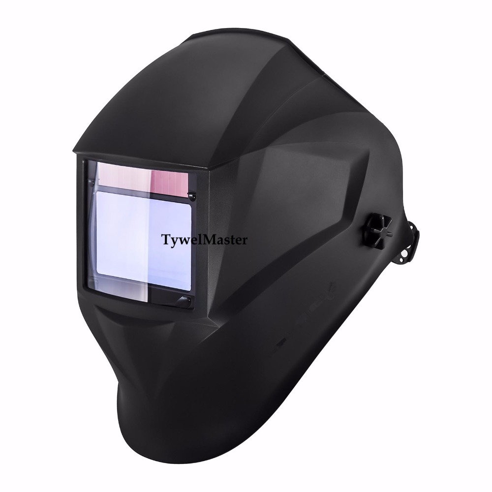 Welding Mask Helmet 100*65mm 1111 4 Sensors Solar Auto Darkening Welding Helmet Welder Hat 3/4-13 MMA MIG TIG(low amp) Welding wedling tool football pro solar auto darkening shading tig mig mma arc welding mask helmet welder cap for welding machine