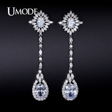 UMODE Brand Hot Crystal Water Drop Dangle Earrings For Women Jewelry Fashion Brincos Para As Mulheres