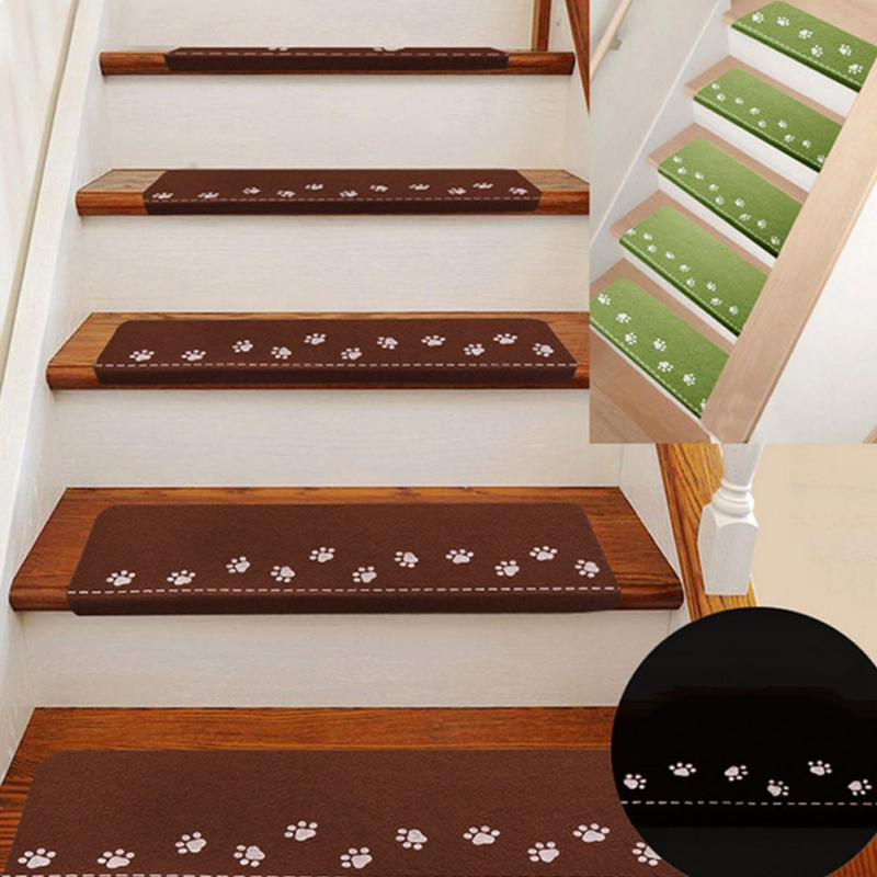 Pack Of 5 Luminous Carpet Stair Treads Mats Glue Free Self Adhesive Pvc Non Slip Floor Staircase Carpets Protector Pads Fdit Christmas Decoration