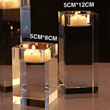 K9 Crystal Cylinder Vases Tea Light Candles Holder Base Wedding Party Decor For Wedding Decor, Home Decoration Accessories