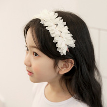 Korea Lace Flower Cute Sweet Ribbon Hair Accessories For Girls High Quality Hair Band  Headband Hair Bow Princess  Hairbands high elasticity baby sweet hairbands mesh bow knot headband girls lovely princess crown hair accessories cute elastic head wrap