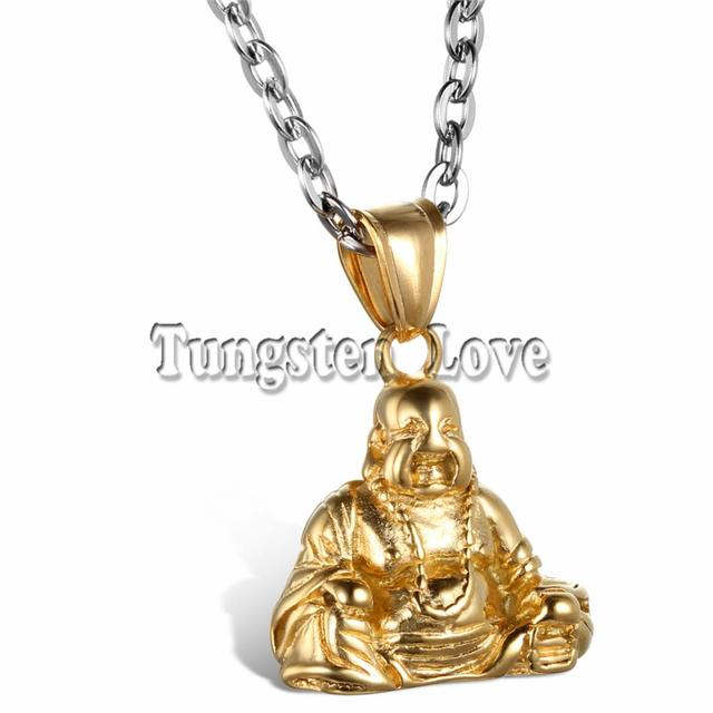 Fashion men jewelry chinese style gold color buddha pendant 316l fashion men jewelry chinese style gold color buddha pendant 316l stainless steel necklace for men with mozeypictures Images