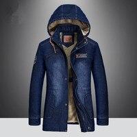 2017 Casual Men S Denim Jackets Winter Thick Regular Plus Large Size 5XL Men S Jackets