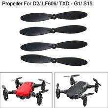 4 шт. винты лезвия для D2/LF606/G1/S15 мини-Квадрокоптер с дистанционным управлением Drone лопасть пропеллера игрушки для детей RC Запчасти