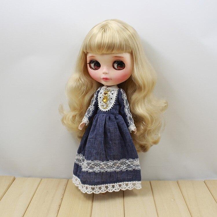 Neo Blythe Doll Retro Mosaic Jewelry Dress 8