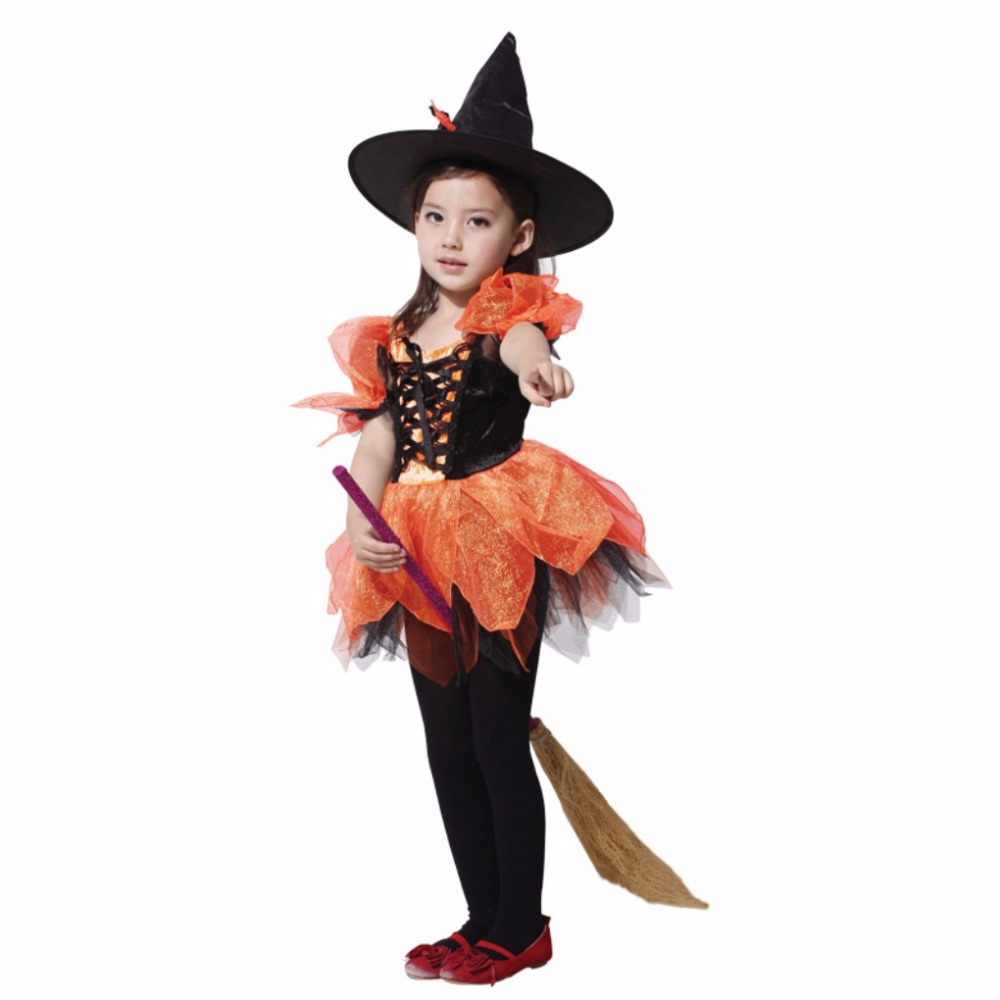 Shanghai Story Flashes Witch Costume Fancy Children Halloween ...
