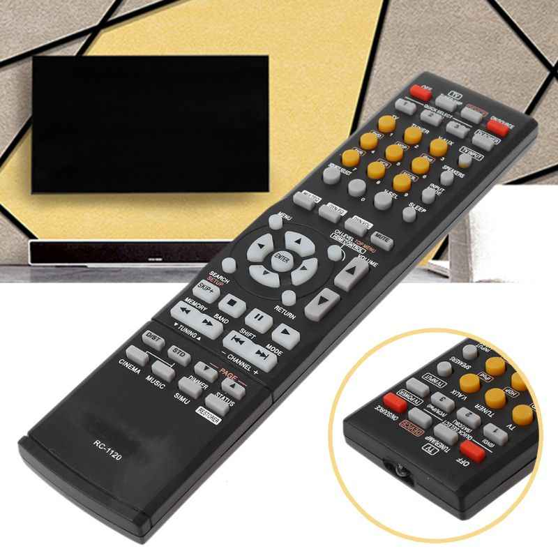 Replaced Remote Control RC-1120 RC1120 for Denon AV Receiver AVR-590  DHT590BA AVR-1610 Television Controller Replacement