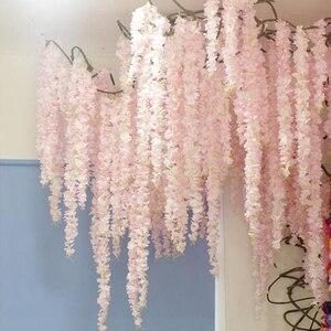Image 1 - 100 Cm Nhân Tạo Hoa Anh Đào Dây Leo Hoa Lụa Sakura Cho Tiệc Cưới Trần Trang Trí Giả Vòng Hoa Vòm Thường Xuân Tự Làm Đảng trang Trí