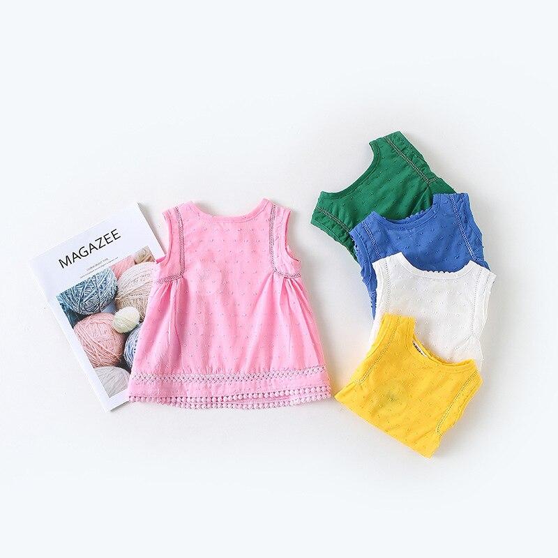 Gastfreundlich Baby Jacquard Baumwolle Bluse Und Infant ärmelloses Shirt Sommer 2018 Fein Verarbeitet