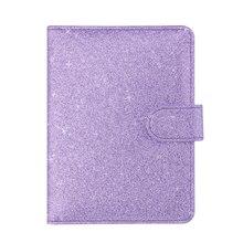 New Women RFID Passport Wallet Shining Leather Cover On the Passport Luxury Travel Passport Bag Female Card Passport Holder