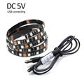 DC 5V 5050 RGB LED Strip Waterproof 1M 60LED 2M 120LED Fita LED Light Strips With 3Key Control Line For TV Background Lighting