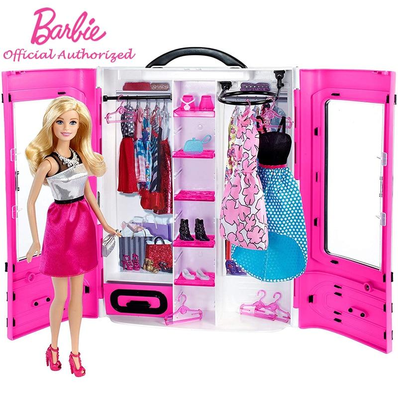 Barbie Brand 100% Original Box Fashionistas Ultimate Closet Doll Multi Color Skirt Barbie Toy Pretty Girl DPP72 For Kid's Gift