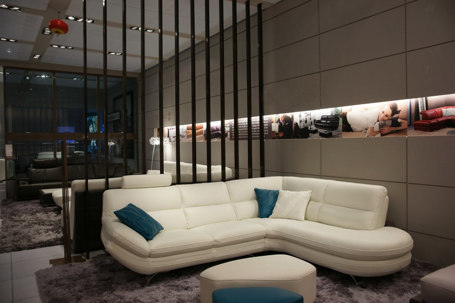 Alta calidad sofá de cuero moderno sofá seccional/salón sofá muebles ...