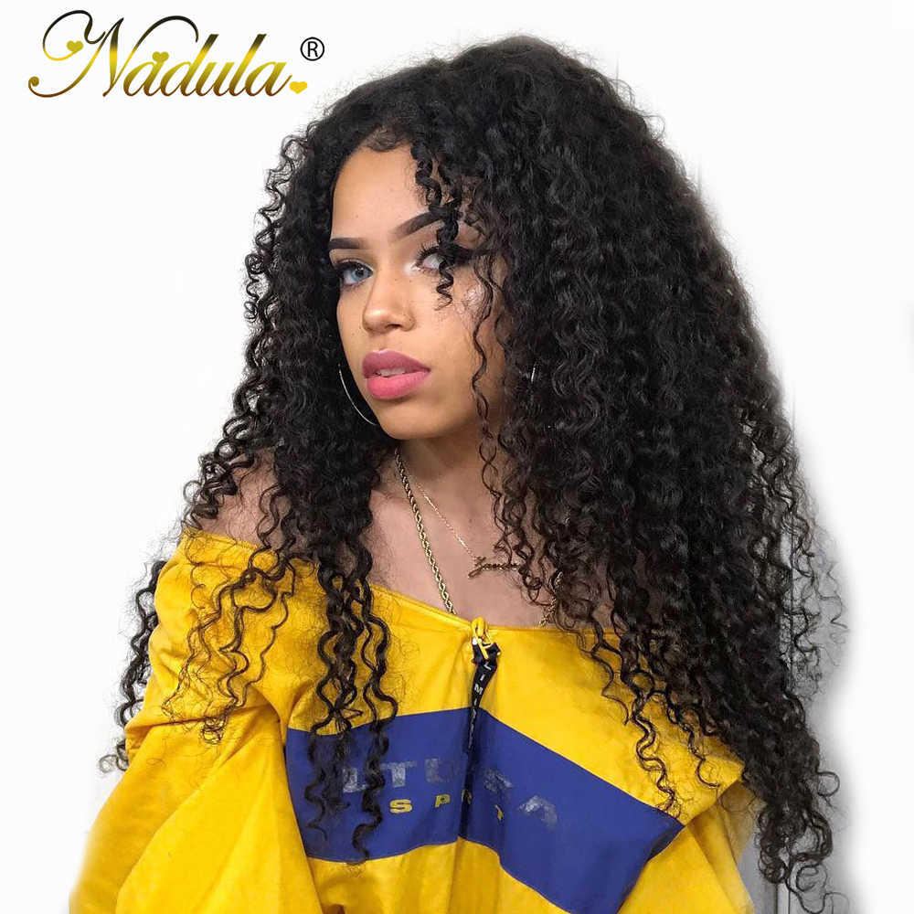 Nadula Hair Bundles Curly Human Hair Weaves 3pcs/4pcs Deal Brazilian Hair Extensions 8-26inch Natural Color Remy Hair