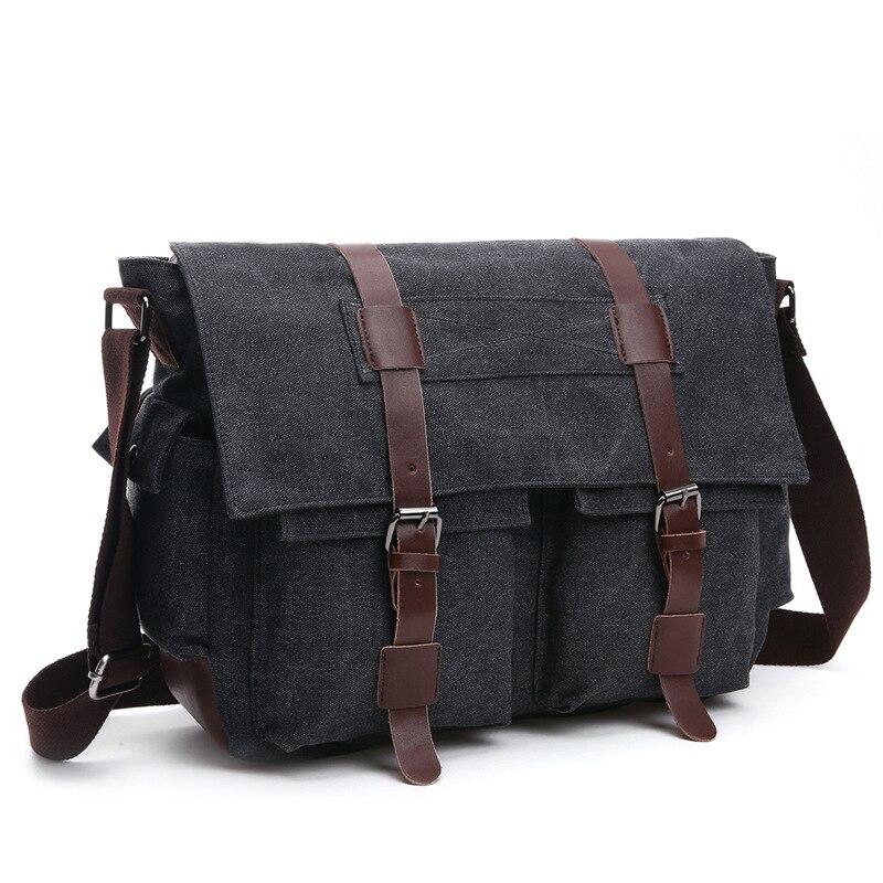 2c96c4d1d338 Vintage Men Messenger Bags Canvas Shoulder Bag Fashion Business Crossbody  Bolsas Maleta Travel Handbag Sacoche Homme