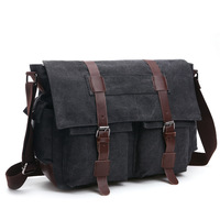 Vintage Men Messenger Bags Canvas Shoulder Bag Fashion Business Crossbody Bolsas Maleta Travel Handbag Sacoche Homme Marque Luxe