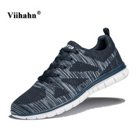 Viihahn Mens Running Shoes Summer Breathable Sports Shoes Lightweight Outdoor Sneakers Man Athletic Walking Shoes Plus