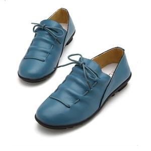 Image 2 - BEYARNE חדש אופנה עור מוקסינים נשי נוח יולדות שטוח נעלי העקב אחת נעליים יומיומיות משלוח Drop חינם