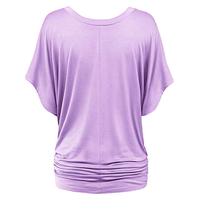 Women's Batwing Sleeve Plus Size Sports T-Shirt  10 colors     S-5 XL