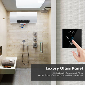 Image 5 - Smart Wifi Water Heater Boiler Switch EU UK 20A Black Glass Touch Switch Ewelink APP Voice Control with Alexa Google Home