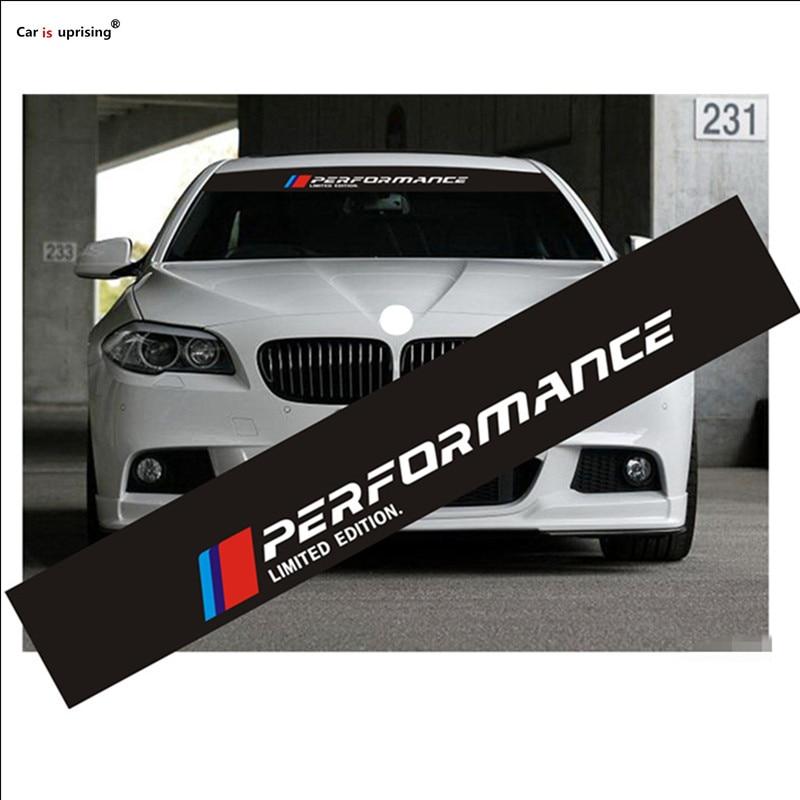 1PCS New M Performance Car Windscreen Windshield Sticker
