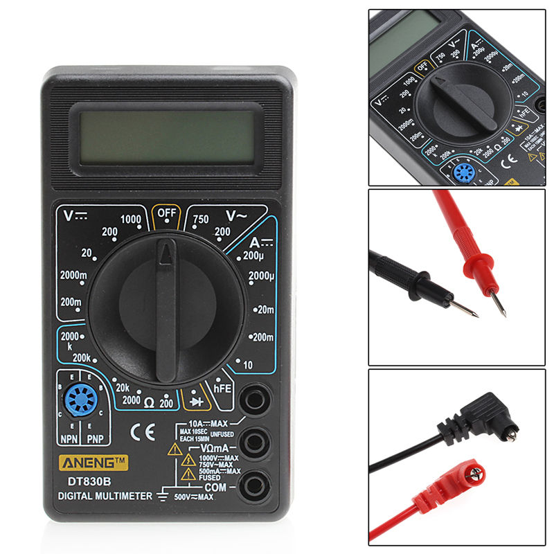 Display LCD Multimetro digitale Voltmetro Amperometro Ohm Tester Elettrico AC/DC Tester Meter Multimetri Digitali Protezione Da Sovraccarico