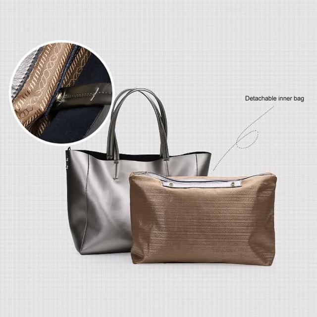 Jasmine Autumn and winter new fashion leather handbag female leather shoulder bag large capacity shopping bag 0214 drop shipping