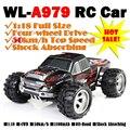 WLtoys A979 50 Km/h 4WD Off Road Coche de Control Remoto de Alta Velocidad Modelos de Coche Del Truco eléctrico Escala 1:18 Rc Camión de Juguete para Niños