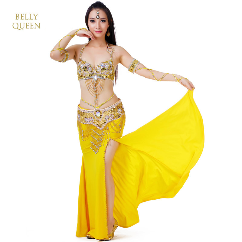 Picture of 2019 New 3Pcs/Set Belly Dance Costume Womens Belly Dancing Costume Sets Tribal Bollywood Costume Indian Dress Bellydance Dress