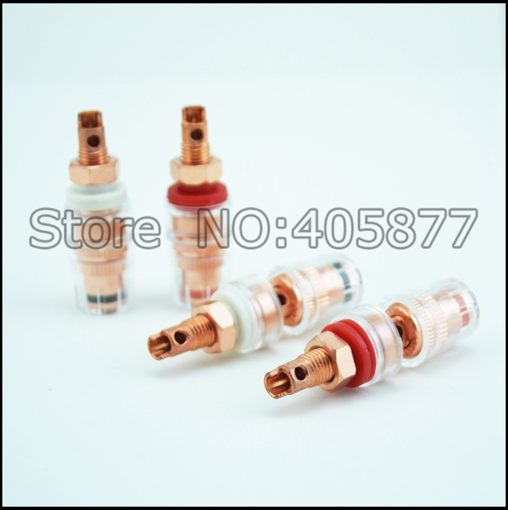 2x Noise Reducing Caps Gold Cap Speaker Amplifier Terminal Binding Post Plug & Connectors