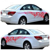 2pcs 200cm KK Material Auto Modifield Decal Vinyl Car Stickers Flame Dragonfly Whole Car Body Styling