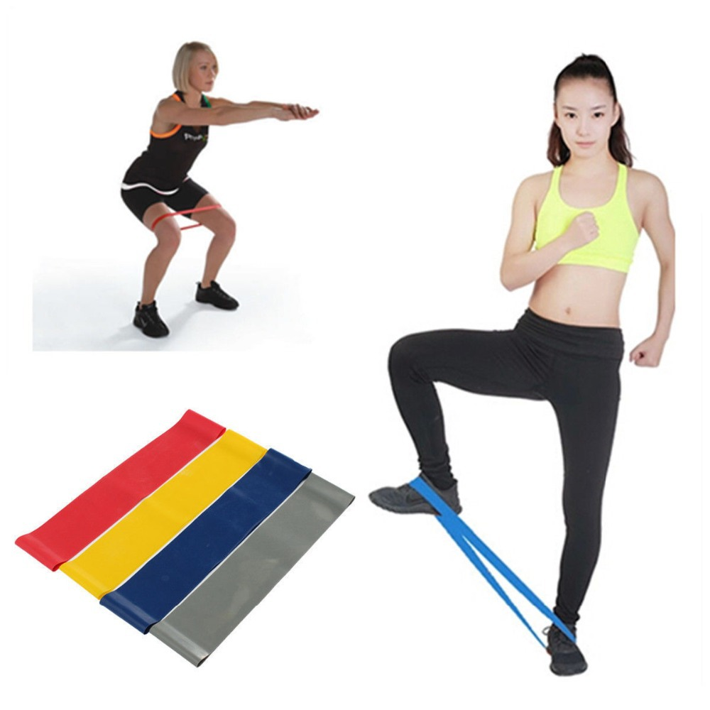 Resistance Loop Band Exercise Workout Strength Weight Fitness Yoga Sport 5 Levels Outdoor