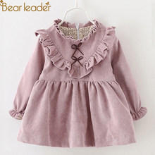 Bear Leader Baby Girl Dress 2019 New fashion Autumn Baby Clothes Long Sleeve swan Mesh Stitching Pincess Dress baby girl clothes(China)