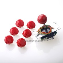 Arcade Machine DIY Kits Parts USB Encoder To PC Games Sanwa Gamepads + 30mm Sanwa Arcade Buttons Cables To PC Game Controller