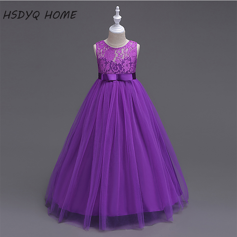 cheap Purple   Flower     Girl     Dresses   2017 Beautiful New Arrival Children gown real photo cheap Kids   Dress