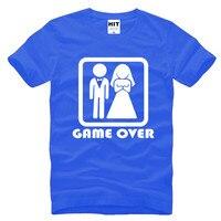 GAME OVER Marriage Wedding Humor Creative Wedding Gift Mens Men T Shirt T Shirt 2016 New