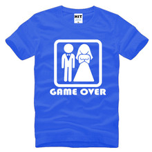 GAME OVER Marriage Wedding Humor Creative Wedding Gift T-Shirt