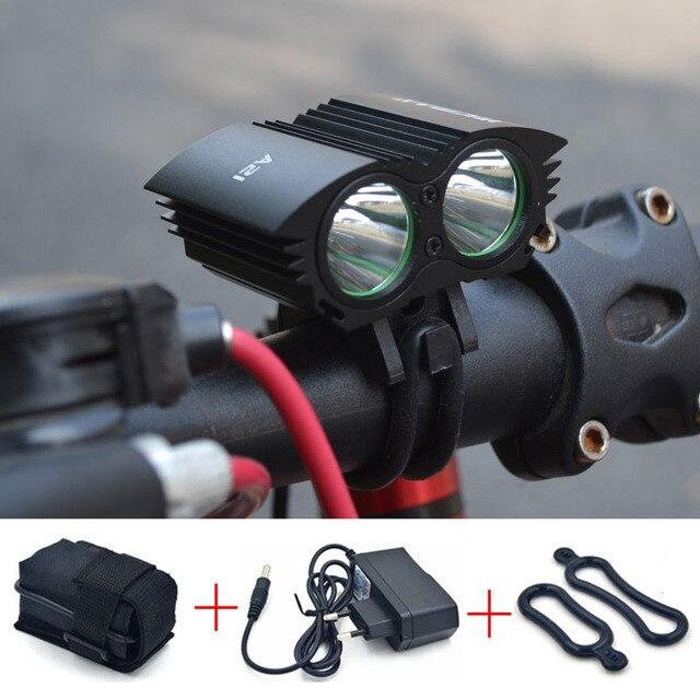A21 LED Bicycle Light 2*XM-L U2 LED 4 Modes Dual Head Bicycle light LED Bike Front light Headlight Cycling Light + Battery + CH