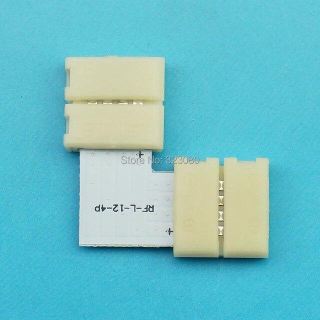 """"""" L """" forme 4PIN LED connecteurs de bande 12 mm PCB conseil de connexion pour 5050 RGB LED bande connecteur rapide"""