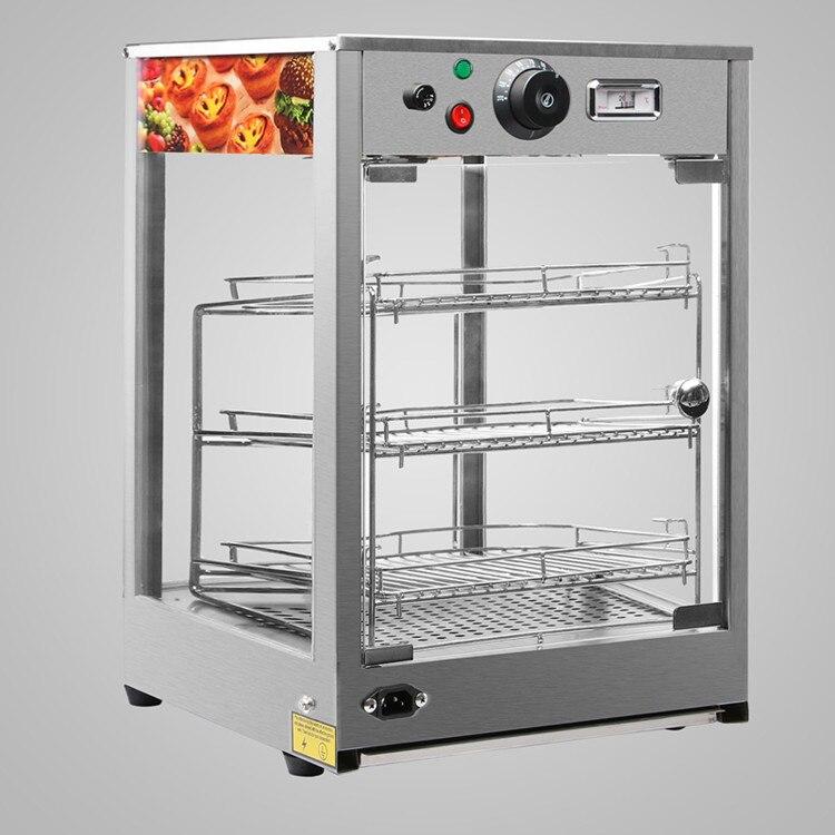 20x17x14 pizza exibir mais quente nova construção de aço inoxidável resistente comercial contador superior alimentos - 3