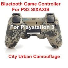 Controlador inalámbrico Bluetooth Gamepad para Sony PS3 juego controlador SIXAXIS controladores para PlayStation 3 ciudad camuflaje urbano