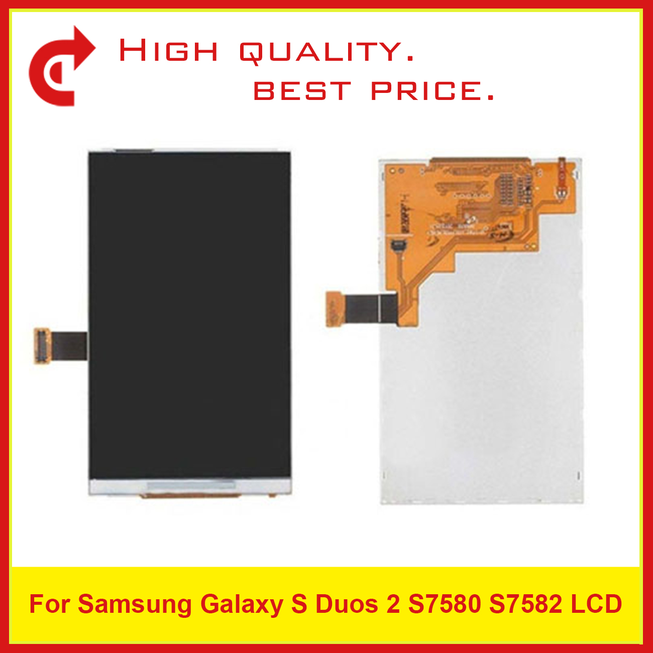 """10Pcs/Lot High Quality 4.0"""" For Samsung Galaxy S Duos 2 S7580 S7582 Lcd Display Screen Free Shipping+Tracking Code-in Mobile Phone LCD Screens from Cellphones & Telecommunications"""