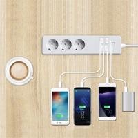 Wifi Wireless Remote Control Power Socket Smart Home Strip Plug EU 3 AC Socket 4 USB Charging Ports Working For Alexa