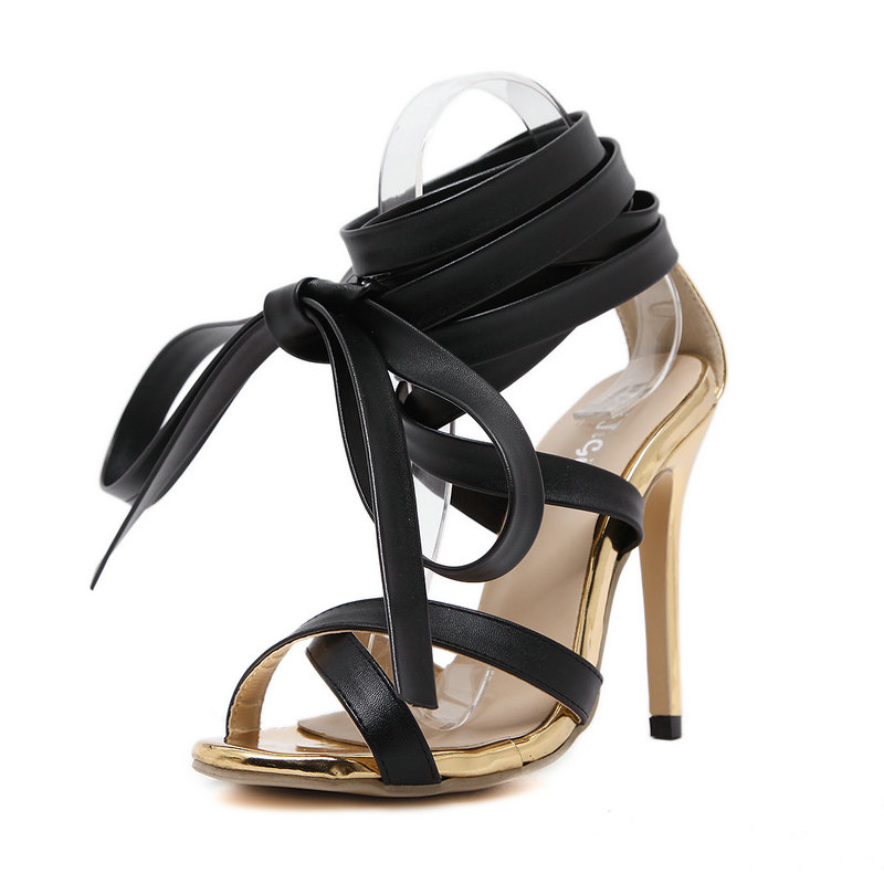 Women Knee High Gladiator Sandals Summer Women Cross-tied High Heels Pumps Sexy Open Toe Stiletto Rome Lace-Up Shoes  rome new sexy high heels wedding shoes woman 2017 brand cross tied women luxury retro square toe gladiator sandals women boots