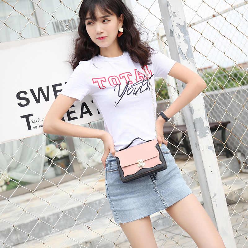 Модная брендовая сумка на плечо для женщин 2019, мини-сумка с замком-цепочкой, Женская Маленькая кожаная сумка-мессенджер, дорожная сумка через плечо, женская сумка для девочек