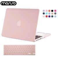 MOSISO ordinateur portable Mac 13 pouces housse plastique mat étui pour macbook Air Pro 13 15 Retina 2015 2014 2013 2019 + Silicone KB couverture