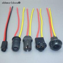 Shhworld Sea 2 шт. T10 W5W T5 мягкие лампы держатель кабели адаптеров светодиодный лампочка разъем Клин база светильник лампочка разъем