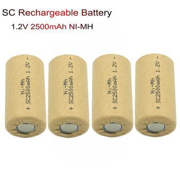 Elektronarzędzia akumulator Ni-MH akumulator SC 1.2V 2500mAh nimh baterie do latarki lampy słoneczne zabawki elektroniczne lampa